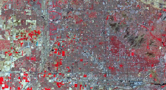 NASAs Terra spacecraft shows Phoenix, the capital and most populous city in Arizona.