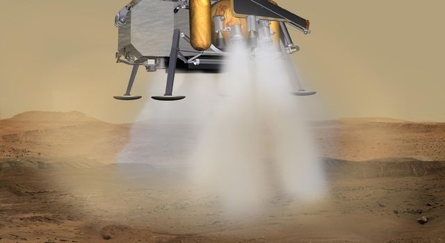 Mars Sample Return Lander Touchdown (Artist