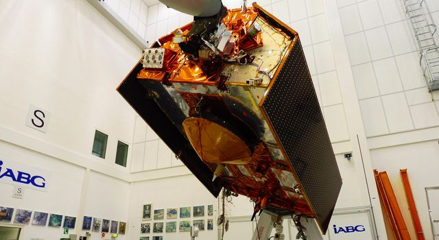 Sentinel-6A in Its Clean Room