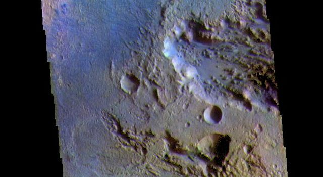 Terra Sabaea Crater - False Color