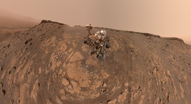 Curiosity at the Hutton Drill Site