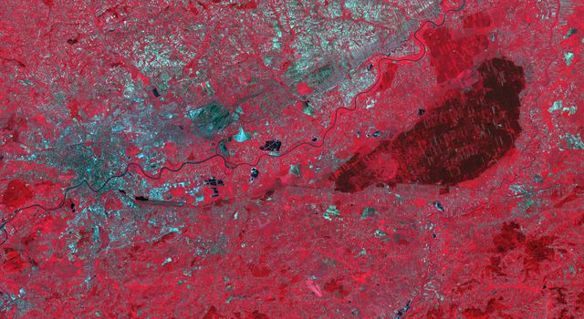 NASAs Terra spacecraft shows the Niepolmice Forest in Poland, consisting of six nature reserves.
