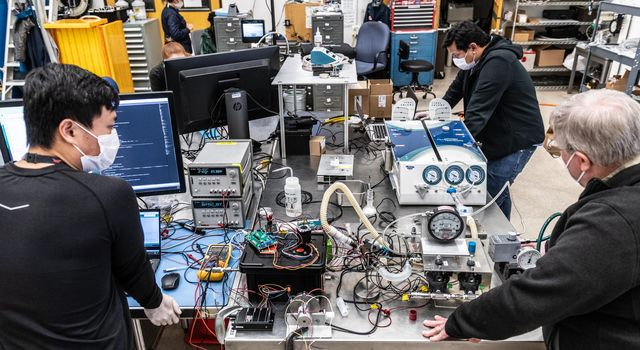 Engineers more accustomed to building spacecraft than medical devices worked on a prototype ventilator for coronavirus patients at NASAs Jet Propulsion Laboratory in Southern California in March and April of 2020.