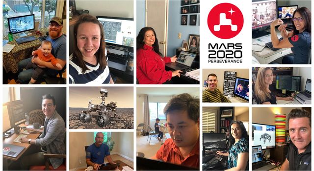 Members of NASAs Perseverance rover mission work remotely from home during the coronavirus outbreak.