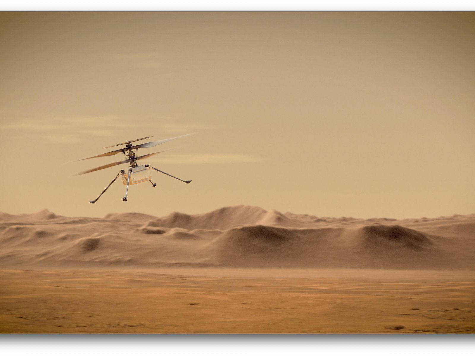 Space Images | Ingenuity Mars Helicopter in Flight (Artist ...