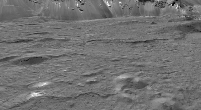 Close-up of Occator Crater