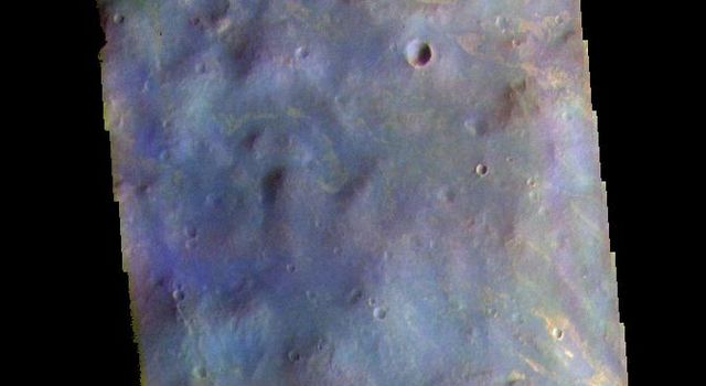 This image from NASAs Mars Odyssey shows part of Nectaris Fossae.