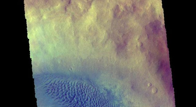 Crater Dunes - False Color