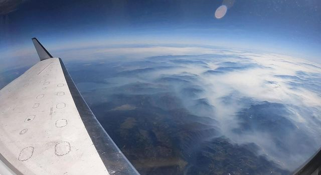 A NASA aircraft equipped with Uninhabited Aerial Vehicle Synthetic Aperture Radar (UAVSAR) flew above California fires on Sept. 3 and 10 to examine the ground below.