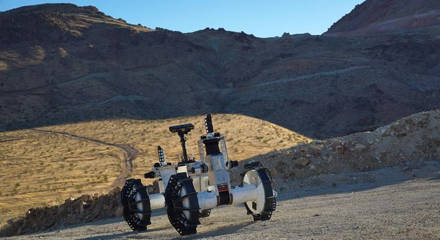 The DuAxel Rover During a Field Test in California