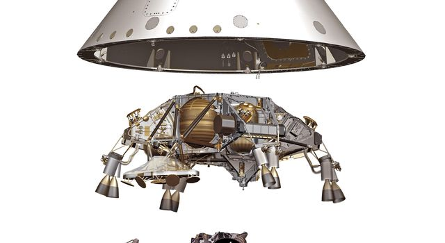 Mars 2020 Expanded Spacecraft Illustration