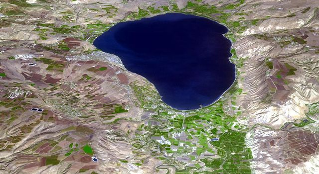 NASAs Terra spacecraft shows the Sea of Galilee (or Sea of Kinneret) in northern Israel, the lowest freshwater lake on Earth.