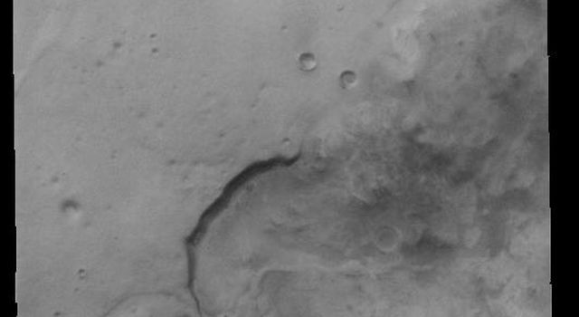 This image from NASAs Mars Odyssey shows southern Noachis Terra.