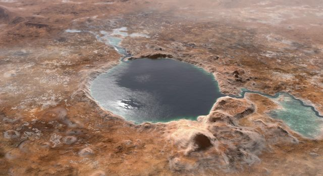 Ancient Jezero Crater (Illustration)